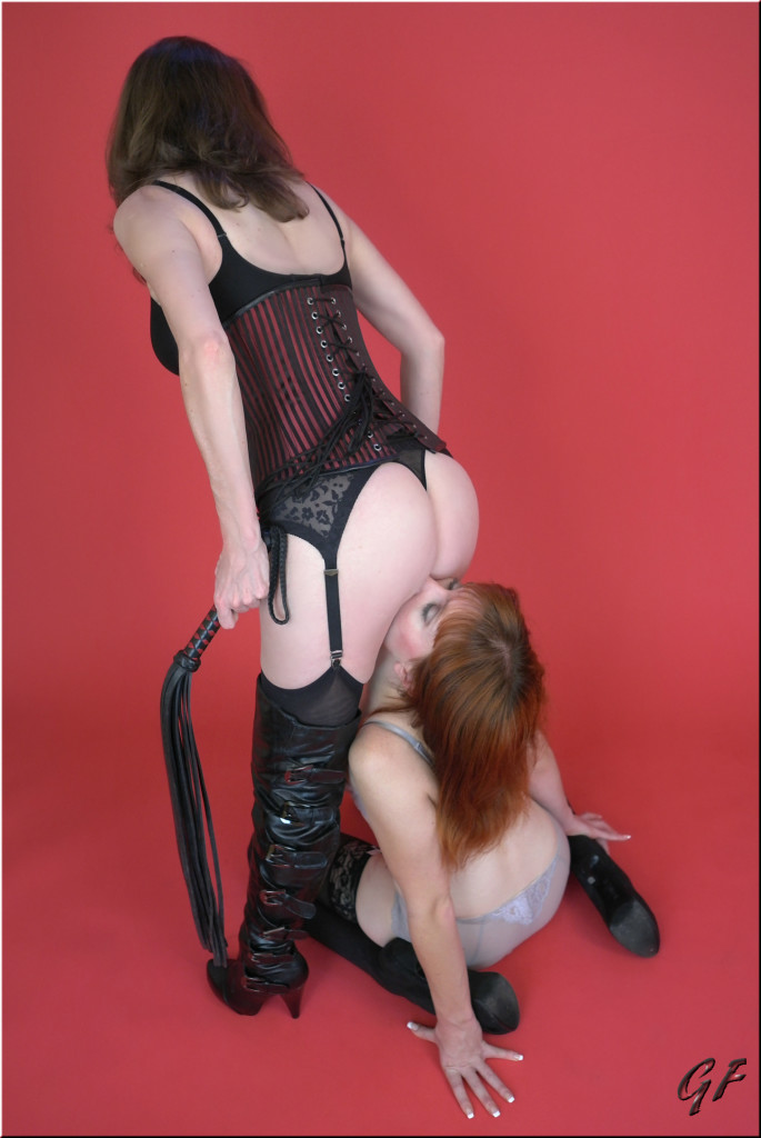 Dominatrix with sub girl